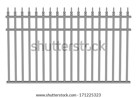 how to draw a 3d fence