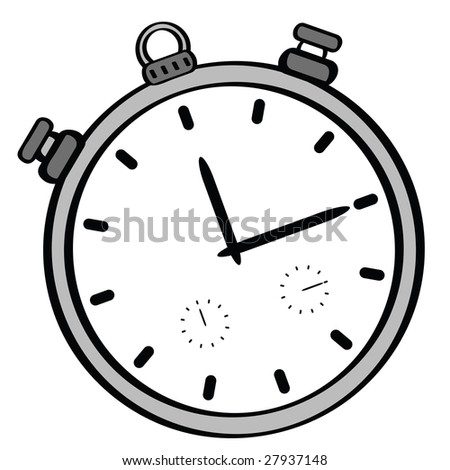 Cartoon jpeg illustration of a stopwatch
