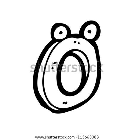 cartoon letter o