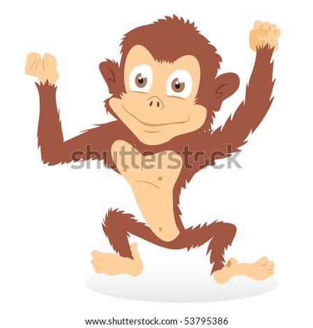 Pictures Of Monkeys Cartoon. stock photo : Cartoon monkey