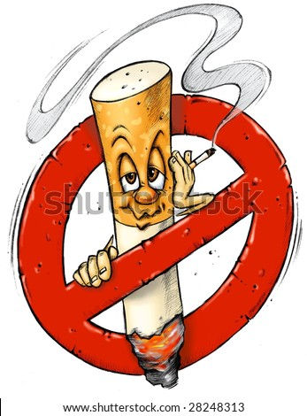 Cartoon - No Smoking sign