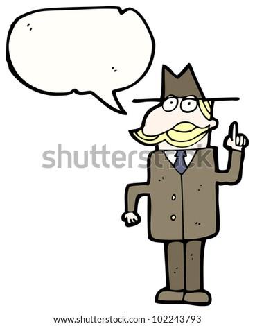 cartoon private detective