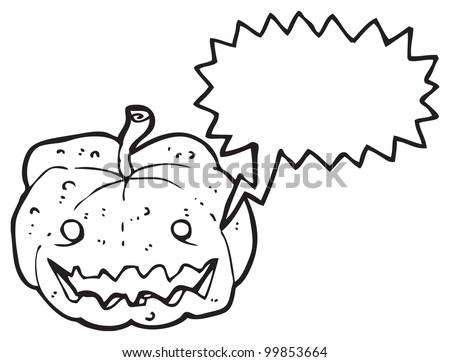 cartoon pumpkin - stock photo
