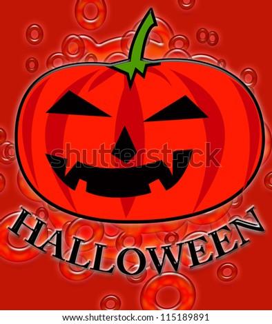 cartoon pumpkins for Halloween day