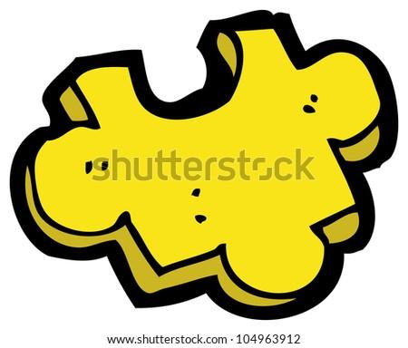 cartoon puzzle piece
