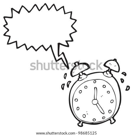 Cartoon Ringing Alarm ...