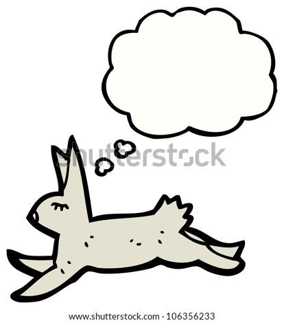 Running Rabbit Cartoon Cartoon Running Rabbit Stock