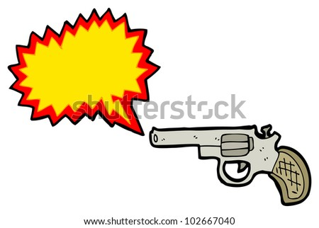 cartoon shooting gun