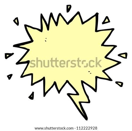 cartoon shout symbol