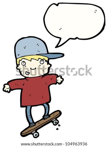 cartoon skater boy