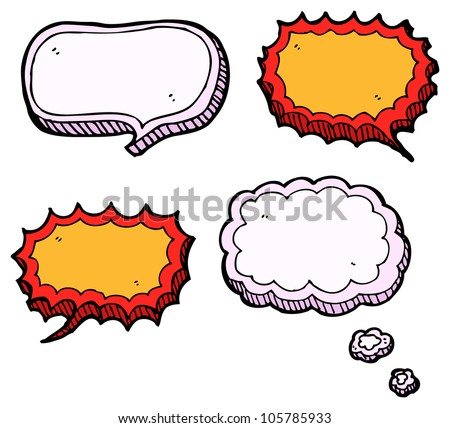 cartoon speech bubble collection