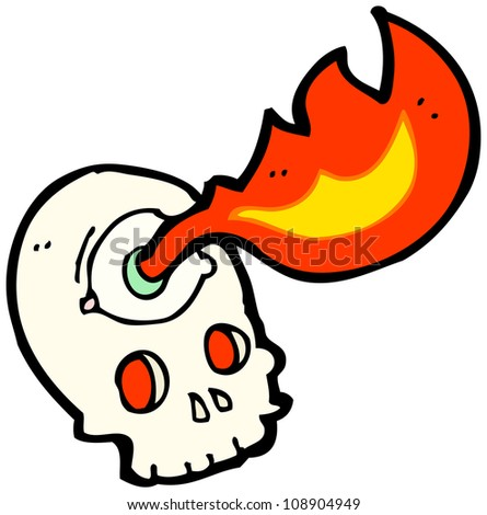 cartoon spooky halloween skull