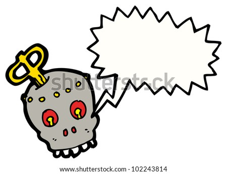 cartoon steam punk robot head