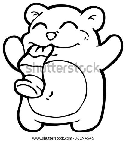Cartoon Teddy Bear Eating Sock Stock Photo 96194546 : Shutterstock