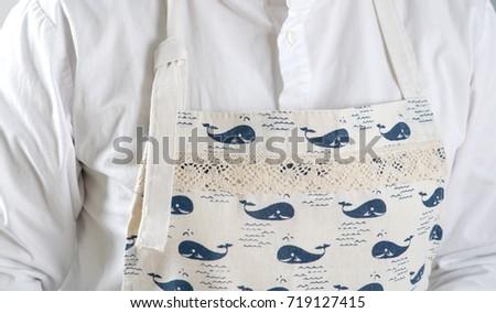 Cartoon whale apron lace #719127415