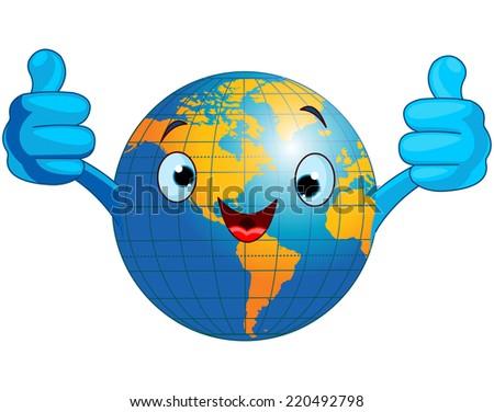 World Map Cartoon Globe Cartoon World Globe Giving