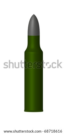 Cartridge case - stock photo