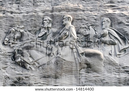 Carved Generals on Stone Mountain, Georgia