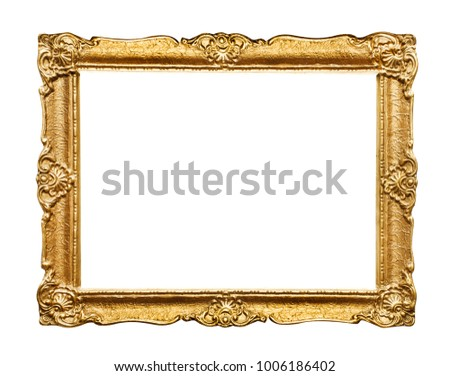 Carved picture frame #1006186402