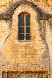 Carved stone medieval details Sarlat catherderal Dordogne France