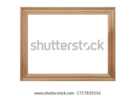 carved vintage wooden photo picture frame isolated on white background. Photo stock ©