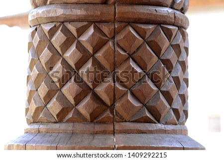 carved wood details (details of the house)