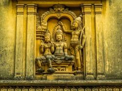 Carvings in Kelaniya Temple. In Colombo, Sri Lanka
