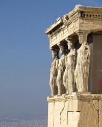 Caryatids, erechteion temple  Acropolis, room for type