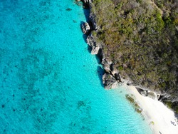 Cas abao Beach Paradise, Top View Drone, Background, Wallpaper,  Caribbean, Sea, Ocean, Dutch, Wonderful, Antilles, Nature, Beautiful, Island, Curaçao