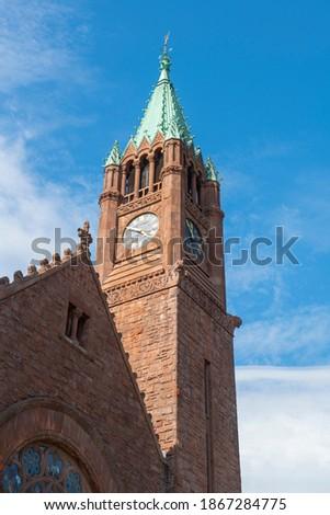 Casa de Gracia y Restauracion church at 820 Main Street in downtown Fitchburg, Massachusetts MA, USA.  Zdjęcia stock ©