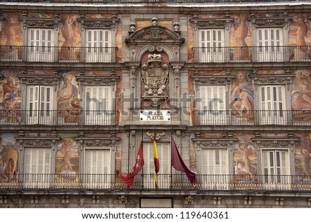 Casa de la Panaderia, Plaza Mayor, Madrid, Spain