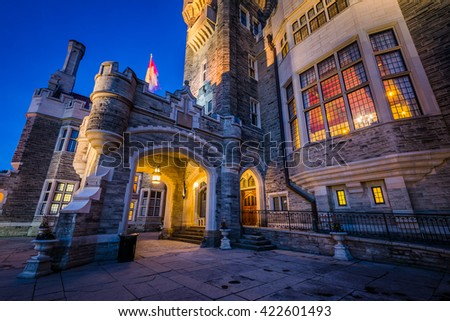 Shutterstock Casa Loma at night, in Midtown Toronto, Ontario.