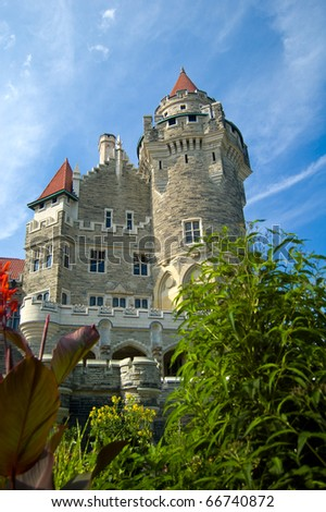 Casa Loma, Canada's famous castle is a major tourist attraction in Toronto. This picture was taken from the lower terrace./Casa Loma
