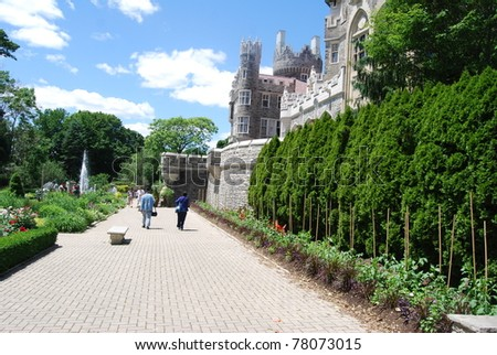 Casa Loma Garden in Toronto, Canada - stock photo