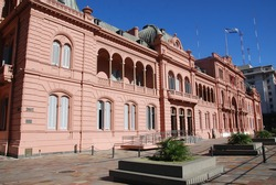 Casa Rosada (pink house) Buenos Aires Argentina.La Casa Rosada is the official seat of the executive branch of the government of Argentina.