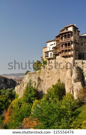 Casas colgadas (hanging houses) in Cuenca, Spain