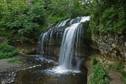 Cascade Falls waterfall in Osceola, Wisconsin USA.