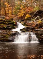 cascading Factory Falls in the Poconos of Pennsylvania