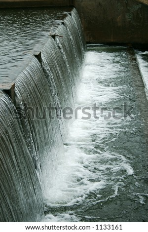Cascading water at the old dam.