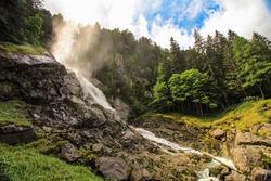 Cascata di Lares, Val Genova, Pinzolo, Sentiero delle Cascate, Trento, Trentino Alto Adige, Italy. Lares Waterfalls. Madonna di Campiglio. Val Genova. Natural Park Adamello Brenta.