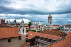 Casco Viejo - Panama City, Panama. View from the rooftop
