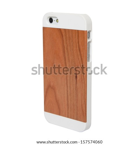 Case for smartphone on a white background