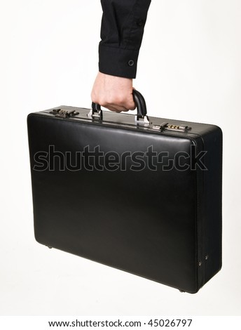 Case in hand - stock photo