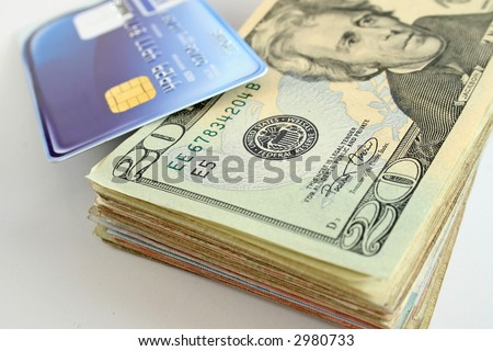 stock photo : Cash advance using a credit card to withdraw american ...