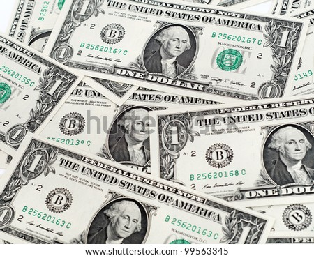 Cash dollar signs. Texture