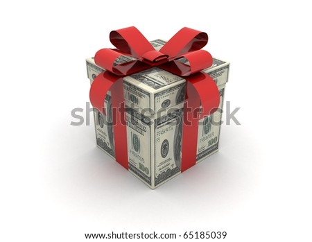 cash gift with slight shadow
