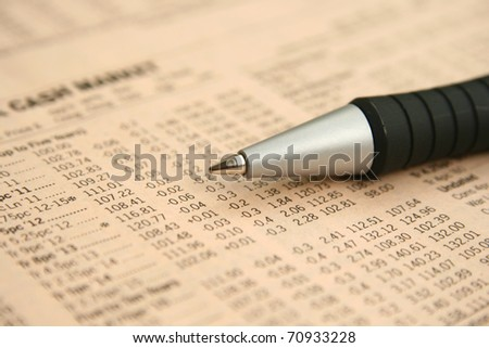 Cash market report - stock photo