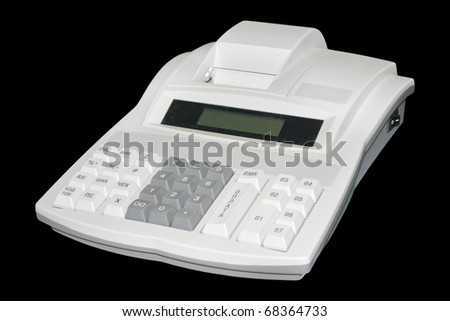 Cash register. Isolated on black background with clipping path.