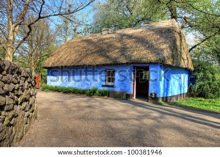 Cashen Fisherman's House in Bunratty Castle & Folk Park - Ireland.