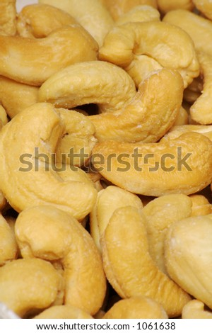 Cashew Nut Background - Vertical